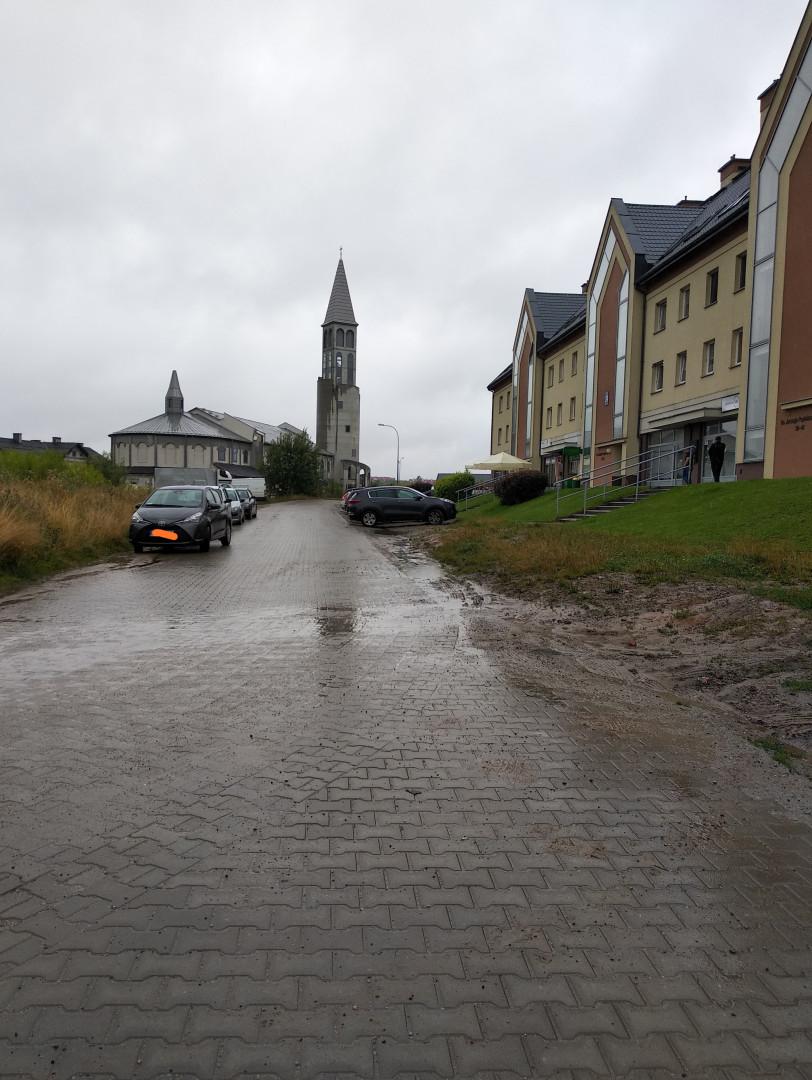 Zdjęcie do projektu Budowa chodnika i towarzyszącej mu infrastruktury przy ulicach Popiełuszki i Bilitewskiego w Olsztynie