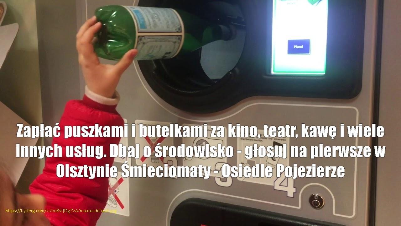 Zdjęcie do projektu Pierwsze w Olsztynie Śmieciomaty z nagrodami - Czyste Pojezierze, Czyste trawniki, Czysty Zysk!